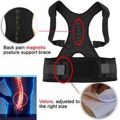 Posture Corrector for Women & Men, Back Support Belt, Black / Beige Invisible Back Support, Adjustable Shoulder Back Brace, S-XL Shoulder Brace, Neck And Shoulder Pain, Neck Pain, Posture Corrective Back Brace, Back Posture Corrector, Posture Support Brace, Magnet Therapy, Relieve Back Pain, Bad Posture