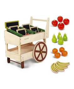 Look at this EverEarth Organic Play Fruit & Veggie Cart Set on #zulily today!