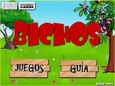 """""""Bichos"""" juego interactivo de la Comunidad Valenciana en formato Flash para el segundo ciclo de Educación Infantil con 2 actividades de lectoescritura."""