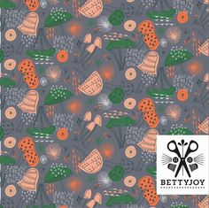 'Shrooms' by Bettyjoy - pattern created as part of ABSPD Course