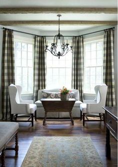 Modern Interior Decorating Ideas Enhancing Country Style Decor with Vichy Check Fabric Patterns