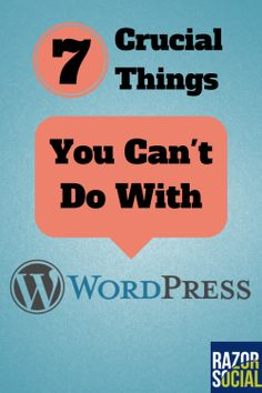 #WordPress can do a lot - but there are a few good tips here for what you shouldn't be doing with it.