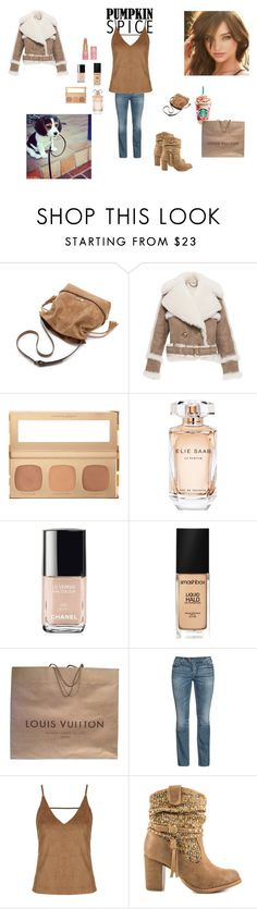 """""""#275 Starbucks"""" by harleenquinnzelllllll ❤ liked on Polyvore featuring Burberry, Payne, Bare Escentuals, Elie Saab, Chanel, Smashbox, Louis Vuitton, Silver Jeans Co., Topshop and Not Rated"""