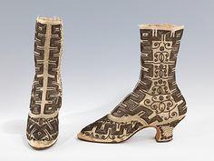 (via The Metropolitan Museum of Art - Boots, Evening) 1870's