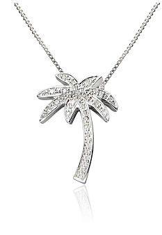 Reeds white gold diamond palm tree pendant necklace jewelry diamond palm tree pendant in sterling silver belkc aloadofball Images