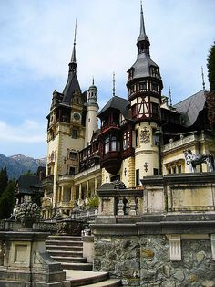 Peles Castle was once the summer residence and retreat for the Royal family  in ROMANIA.