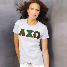 Alpha Chi Omega Ladies T-Shirt $15.99 #Sorority #Greek #AChiO #AlphaChiOmega #Clothing