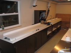 Miter saw station with planer