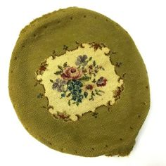 "Vintage Needlepoint chair cover with Flowers Green Approx 15"" Long #pillows (ebay link) West Bend, Hand Hooked Rugs, Needlepoint Pillows, Wool Carpet, Rug Hooking, Vintage Floral, Chair, Link, Green"