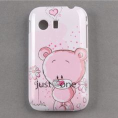 For Samsung GALAXY Y S5360 Pink Lovely Bear Hard Skin Case Cover Back Protector