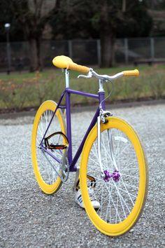 "Purple Platform Bike Pedals 9//16/"" Fixed Gear Track BMX MTB Cruiser Fixie Bicycle"
