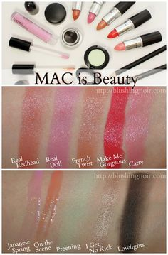 MAC is Beauty Collection Swatches