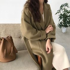 Gorgeous olive structured coat