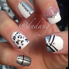Not sure I'd use all the designs together but maybe use them for an accent nail.