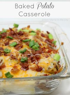 Baked Potato Casserole! Perfect side dish and so easy to make. #QuickFixCasseroles