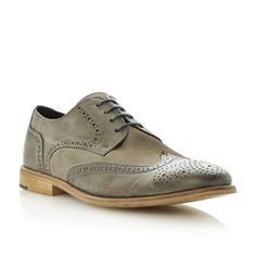 729781168db BERTIE MENS ASTON 2 - Mix Suede and Leather Brogue - grey | Dune Shoes  Online