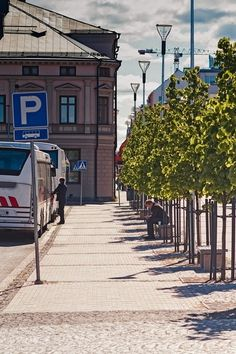 Waiting For The Bus by Jukka Heinovirta on Travel Pictures, Travel Photos, Figure Reference, Finland, Waiting, Street View, Amazing Places, Vacation Pictures