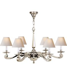 Visual Comfort Alexa Hampton Myrna 6 Light Chandelier in Polished Nickel AH5010PN-NP #visualcomfort