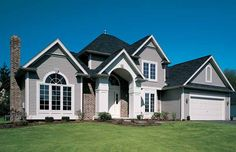 Eplans New American House Plan - Exterior Appeal - 1859 Square Feet and 3 Bedrooms from Eplans - House Plan Code HWEPL06604