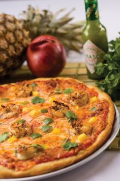 Jamaican Jerk Shrimp Pizza     #pizza #recipe #shrimp #seafood
