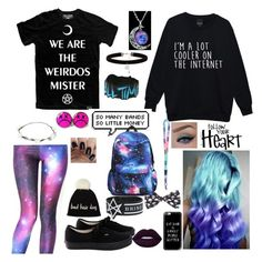 """""""Ire's Style"""" by jayceepanda on Polyvore featuring Killstar, WithChic, Love Quotes Scarves, New Look, Lipsy, Vans, Casetify, John Lewis, Lime Crime and black"""