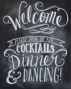 Welcome Chalkboard Wedding Sign