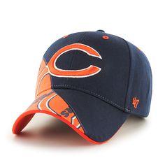 d52e534e2083d Chicago Bears Wedge MVP Navy 47 Brand Adjustable Hat