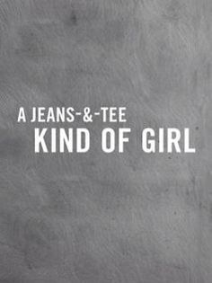Jeans & Tee. #jeans #tee #casual #style