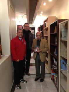 Anselmo Cassiano, Alvaro Lima e Domicio Coutinho na Biblioteca do Brasil - New York
