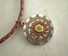 washer jewelry for guys | Necklace: Men's Necklace - Men's Jewelry - Industrial Jewelry - Washer ...