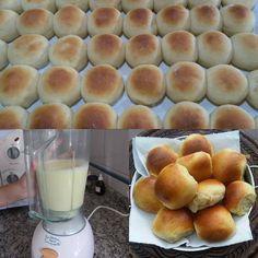 Ingredientes: 1 kg de farinha de trigo 1 colher (sopa) de margarina 1/2 colher (sobremesa) de sal 1/2 copo de leite 1/2 xícara de açúcar 2 batatas cozidas 2 tabletes de