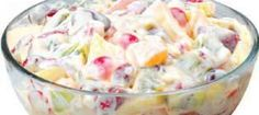 Fruit Cocktail in Condensed Milk and Heavy Cream The Filipino Fruit Salad is a staple dessert to most Filipino parties, just like the Leche Flan. The ... Pinoy Dessert, Filipino Desserts, Asian Desserts, Filipino Recipes, Asian Recipes, Sweet Recipes, Postres Filipinos, Filipino Fruit Salad, Comida Filipina