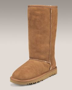 Classic Tall Boot, Chestnut, Youth by UGG Australia at Neiman Marcus. Bearpaw Boots, Ugg Boots, Ugg Classic Tall, Tall Boots, Ugg Australia, Barefoot, Neiman Marcus, Uggs, Little Girls