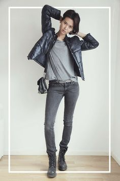 Nowhere Jacket, Gina Tricot Belt, 7 For All Mankind Jeans, Cubus Tshirt, Alexander Wang Bag, Vagabond Boots