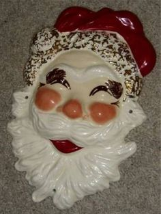 A personal favorite from my Etsy shop https://www.etsy.com/listing/58654334/vintage-napco-christmas-santa-claus-wall