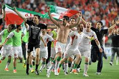 2014 World Cup Qualifying Teams - Iran - June 18 Thanks to winning its group in the Asian Football Confederation, Iran will be making its fourth-ever appearance in the World Cup. Iran Football, Afc Football, World Football, Iran World Cup, Literature Books, Water Polo, World Cup 2014, Green Life, Volleyball