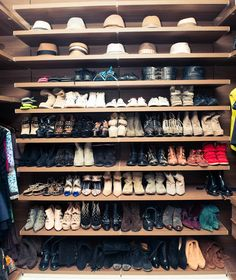 I would LOVE to have this show closet... including most of these shoes, as well as some of the ones that are currently already in my closet
