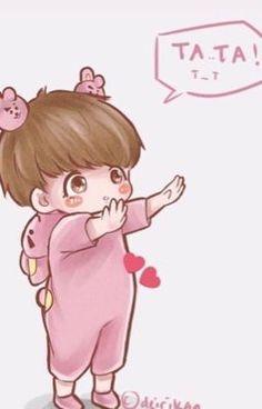 Jungkook Fanart, Fanart Bts, Yoonmin Fanart, Vkook Fanart, Jungkook Cute, Bts Bangtan Boy, Vkook Memes, Bts Memes, Bts Chibi