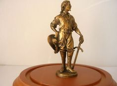 """Jim Pounder, IGMA artisan - """"Musketeer"""" cast resin with bronze finish statue, limited edition of 25"""