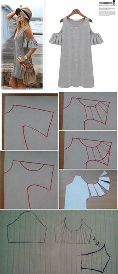 Майка-платье с необычными рукавами / Простые выкройки / ВТОРАЯ УЛИЦА by lynette