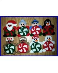 Peppermint Pals Christmas Tree Ornaments