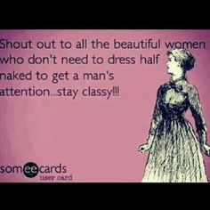 Stay classy my friends.