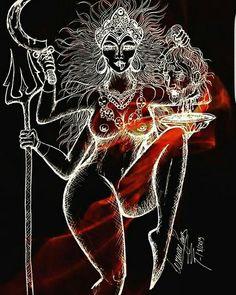 Indian Art Gallery, Kali Mata, Shiva Shakti, Satyr, Hindu Deities, Dark Fantasy Art, Tantra, Durga, Sirens