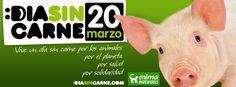 Todo gran viaje siempre comienza con el primer paso.   ¡Vive un día sin carne!    Por los animales  Por el planeta  Por salud  Por solidaridad  ♥    Encuentra miles de recetas, artículos, testimonios, restaurantes en: www.HazteVegetariano.com
