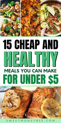Cheap Easy Meals, Inexpensive Meals, Frugal Meals, Easy Weeknight Meals, Budget Meals, Healthy Meals For Two, Healthy Meal Prep, Healthy Dinner Recipes, Healthy Eating
