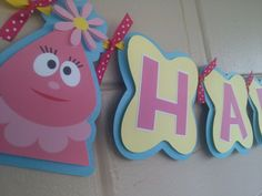 Yo Gabba Gabba Birthday Banner by MemoriesBlossom on Etsy 2nd Birthday, Birthday Parties, Birthday Ideas, Yo Gabba Gabba, Daughter Of God, Cupcake Cakes, Cupcakes, Party Planning, Banner Ideas
