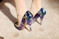 Miu Miu sequin pumps in blue-purple-silver: perfect? Perfect.
