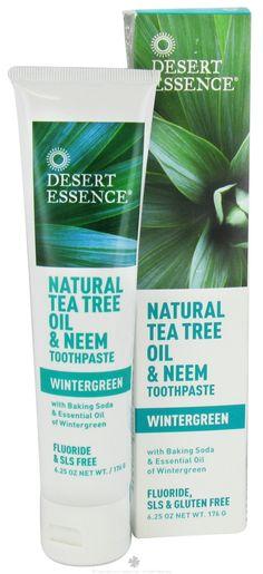 Better Nutrition Best of Beauty Awards 2012: Desert Essence - Toothpaste Natural Tea Tree Oil & Neem With Baking Soda Wintergreen - 6.25 oz. LUCKY DEAL at LuckyVitamin.com