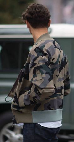 Valentino camouflage jacket has become a modern classic. Street Style.