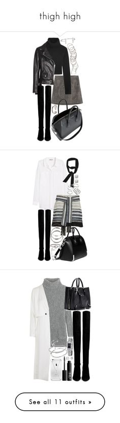 """""""thigh high"""" by inspirene ❤ liked on Polyvore featuring Zara, Michael Kors, Acne Studios, Stuart Weitzman, Givenchy, H&M, French Connection, 10 Crosby Derek Lam, Apt. 9 and Vince Camuto"""